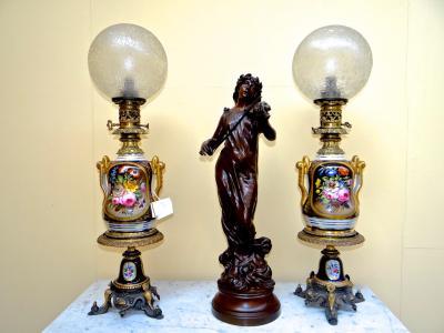 Пара керосиновых ламп 19 век