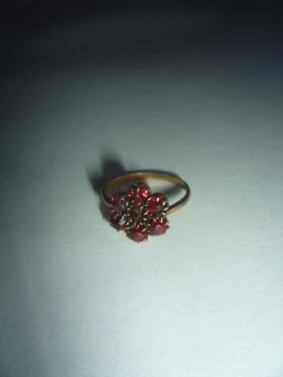 Старинное кольцо с Богемскими гранатами