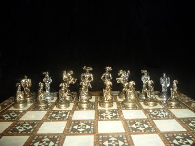 Старинные шахматы, миниатюра.