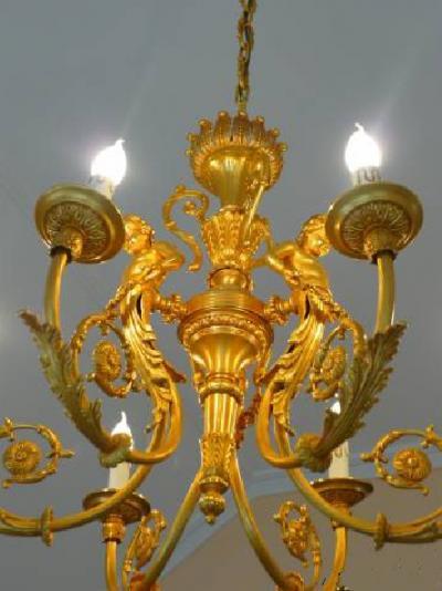 Люстра 6 ламп бронза