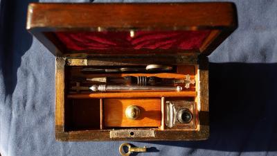 Старинный крестильный ящик