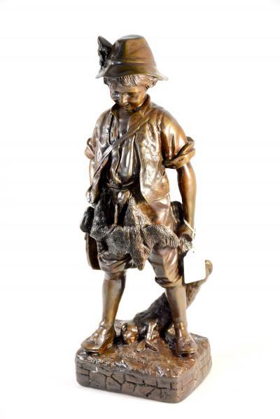 Бронзовая скульптура Юный охотник.