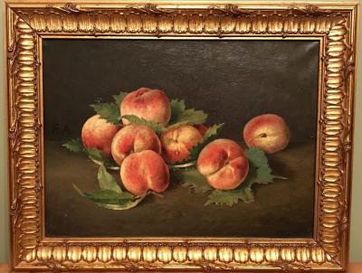 Старинный натюрморт с персиками