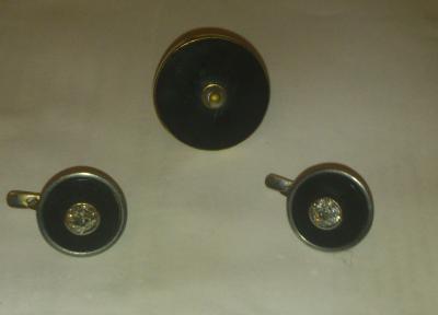 Серьги и кольцо агат