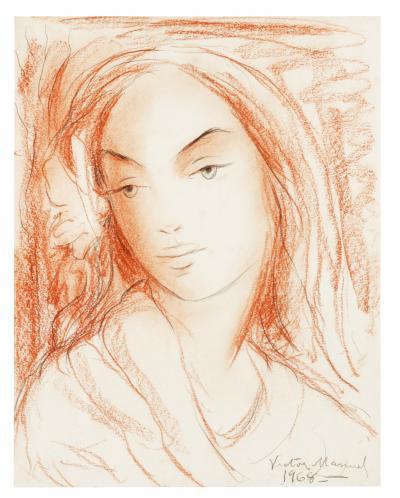 Виктор Мануэль Женский портрет