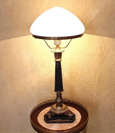 Старинная настольная лампа. Ампир.