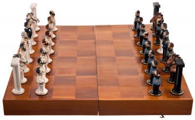 Уникальные шахматы Север-Юг