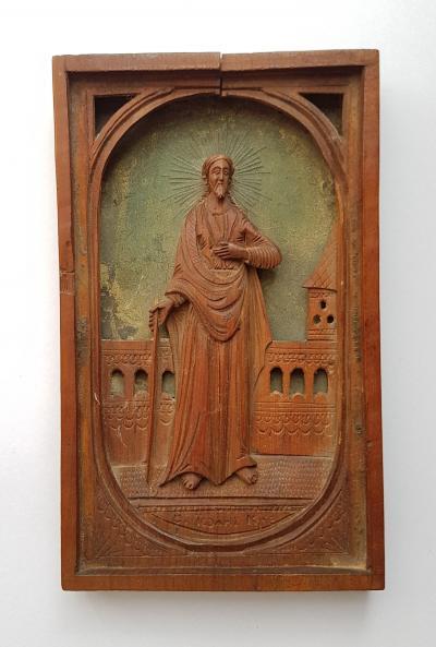 Резная икона с изображением св. Предтечи и Крестителя