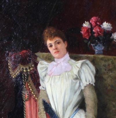 Женский портрет Сафо. 19 век.