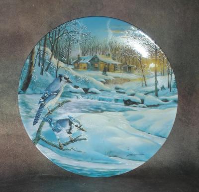 Тарелка фарфоровая новогодняя рождественская Сумеречная серенада