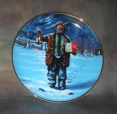 Тарелка фарфоровая новогодняя рождественская Рождественская песнь