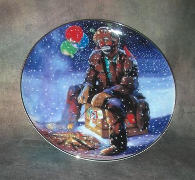 Тарелка фарфоровая новогодняя рождественская Рождественский ужин