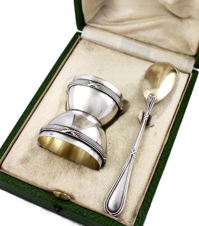 Серебряная пашотница в футляре