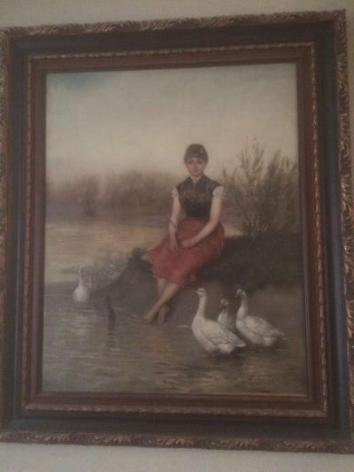 Девушка на пруду