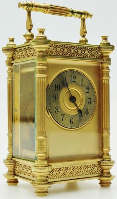 Бронзовые каретные часы
