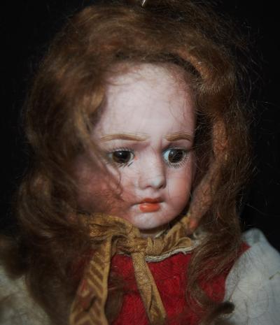 Редкая антикварная куколка с тремя лицами