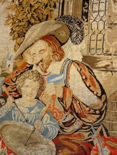 Вышитая картина Отец и сын