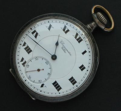 Серебряные карманные часы ELKA CHRONOMETRE