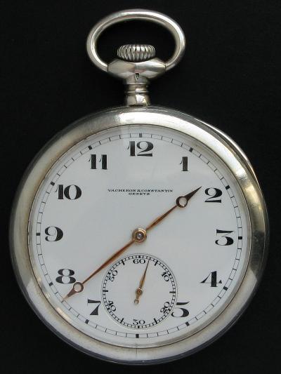 Серебряные карманные часы VACHERON & CONNSTANTIN