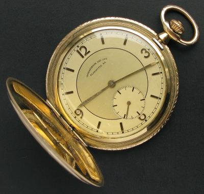 Позолоченные карманные часы Glashutte