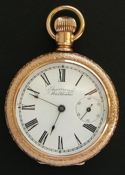 Позолоченные карманные часы American Waltham Watch Co.