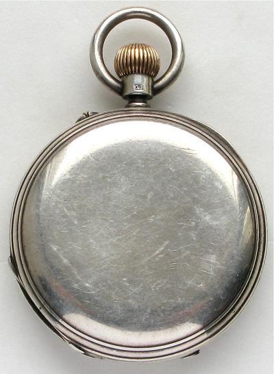 Серебряные охотничьи карманные часы