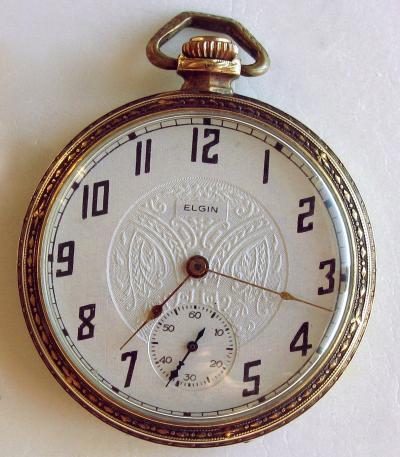 Позолоченные часы ELGIN NATIONAL WATCH COMPANY