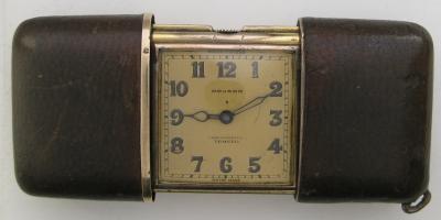 Серебряные карманные часы слайдер MOVADO