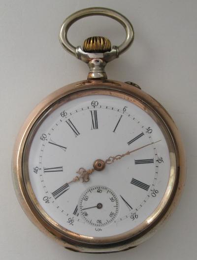 Позолоченные карманные часы IWC
