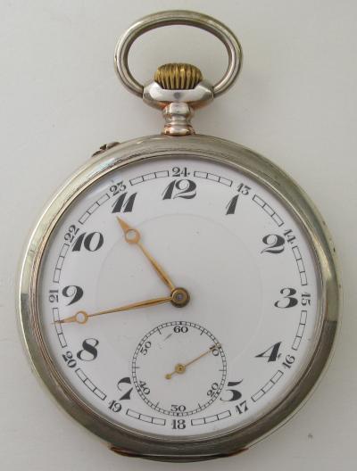 Серебряные карманные часы IWC 1911