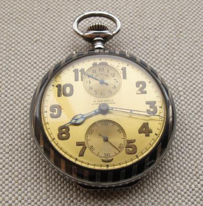Серебряные карманные часы Rud. WEHRLI WINTERTHUR будильник