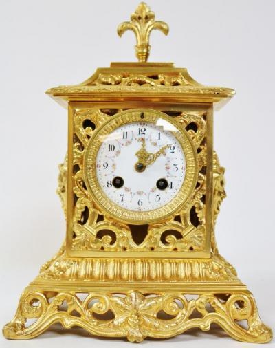 Французские каминные часы с филигранью