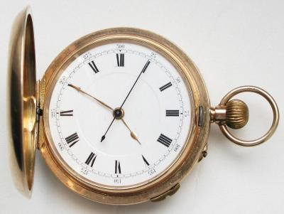 Золотые карманные часы с хронографом
