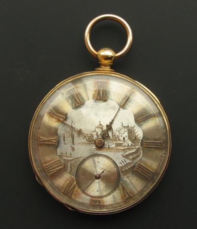 Золотые карманные часы ARNOLD ADAMS