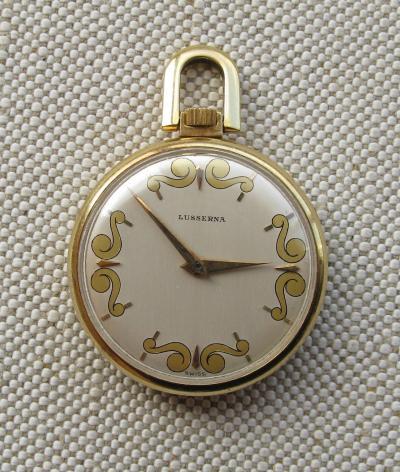 Золотые карманные часы LUSSERNA