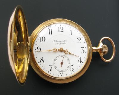 Золотые карманные часы CHRONOMETRE