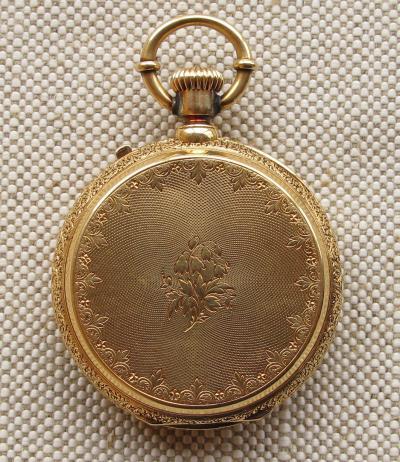 Золотые карманные часы DAVID J. MAGNIN