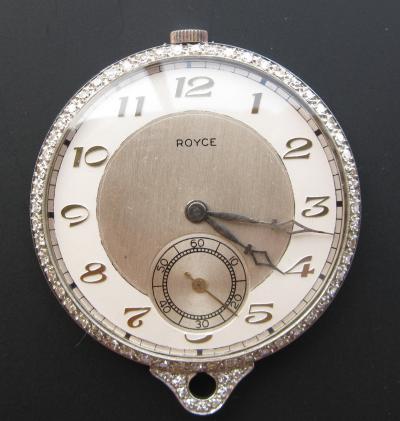 Платиновые карманные часы ROYCE с бриллиантами
