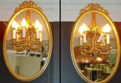 Настенные парные зеркала
