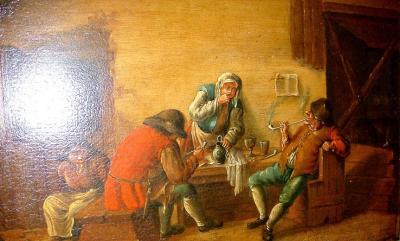Курильщики в таверне