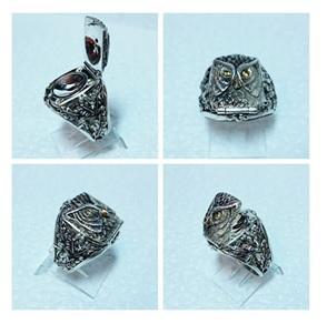 Серебряный перстень Филин