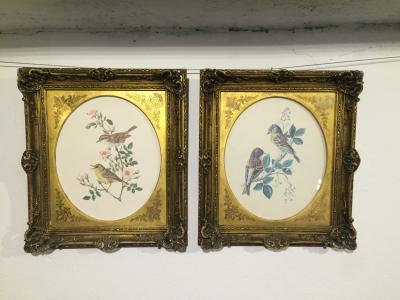 Парные литографии в рамах XIX века