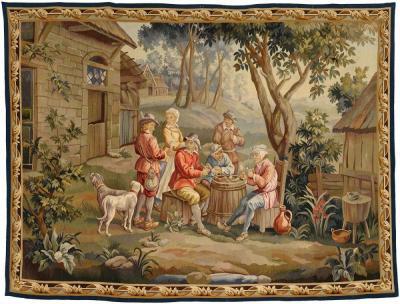 Гобелен из Обюссона со сценой из крестьянской жизни
