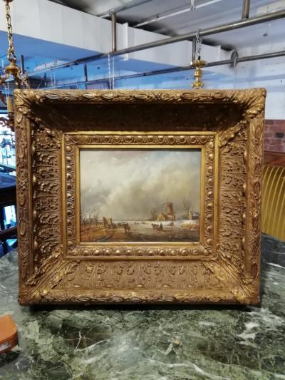 Картина На льду, XIX век