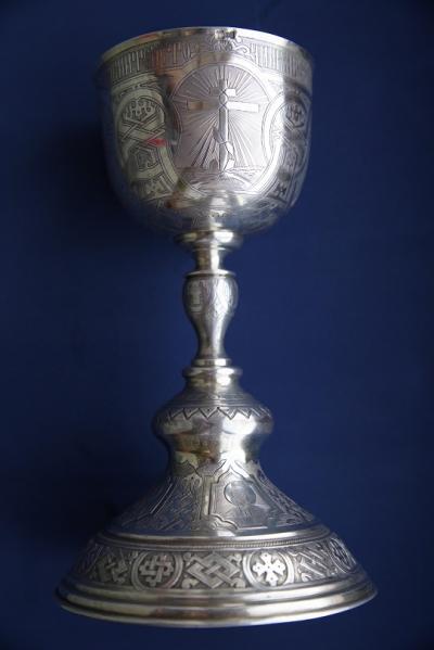 Серебряный потир с чашей на 0,5 литра