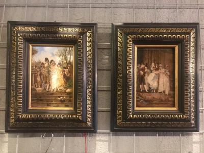 Парные картины Свадьба и крестины