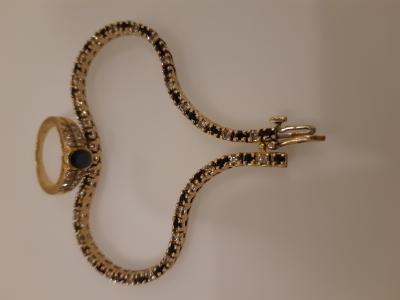 Ювелирный набор - кольцо с браслетом