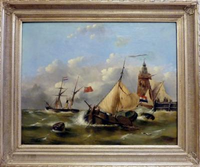 Голландский морской пейзаж