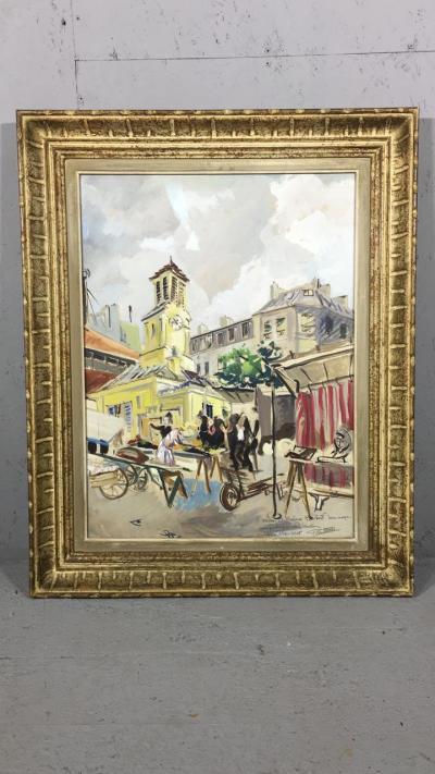 Акварель Рыночная площадь
