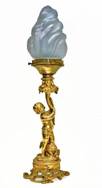 Лампа Путти с рогом изобилия